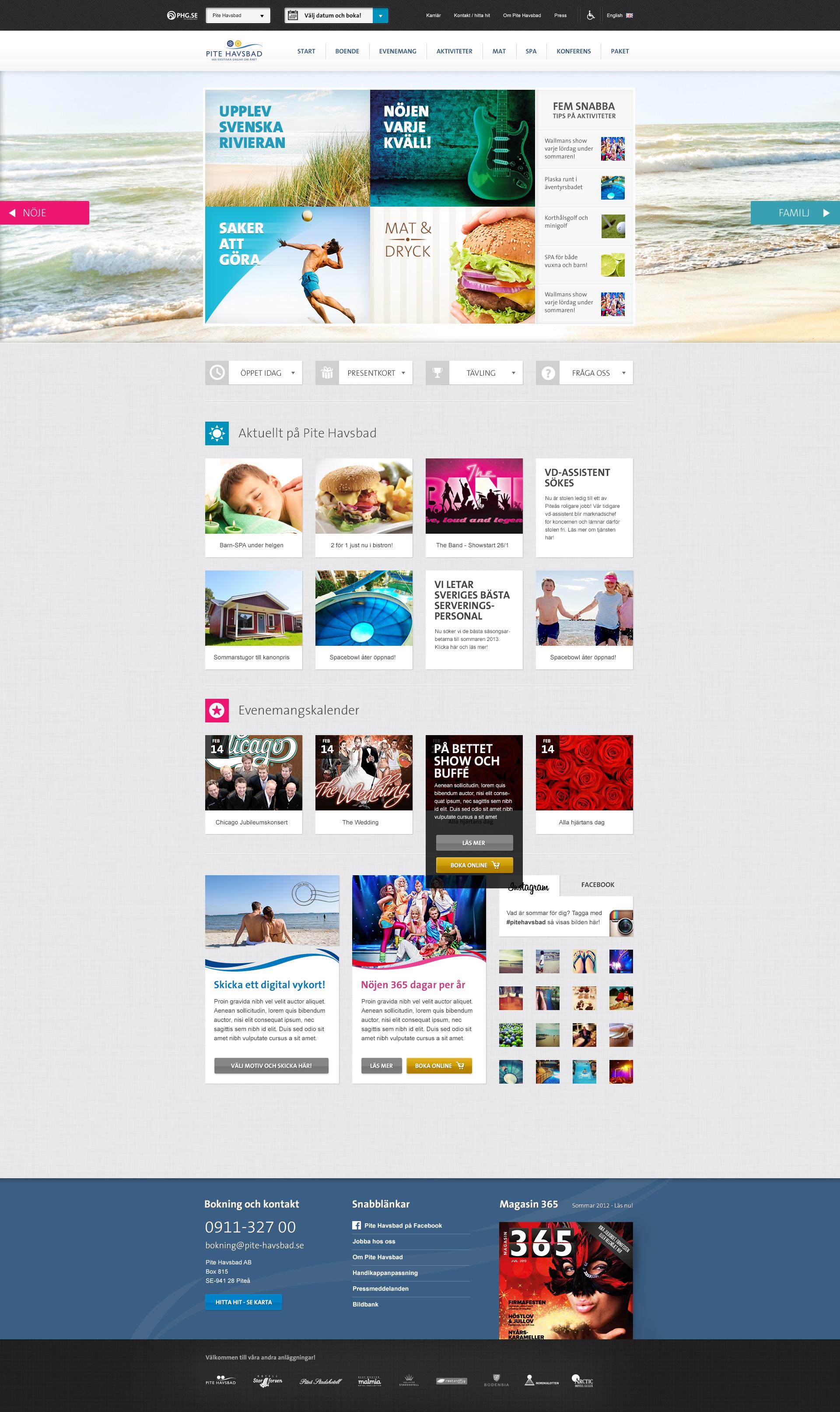 Pite Havsbad start page